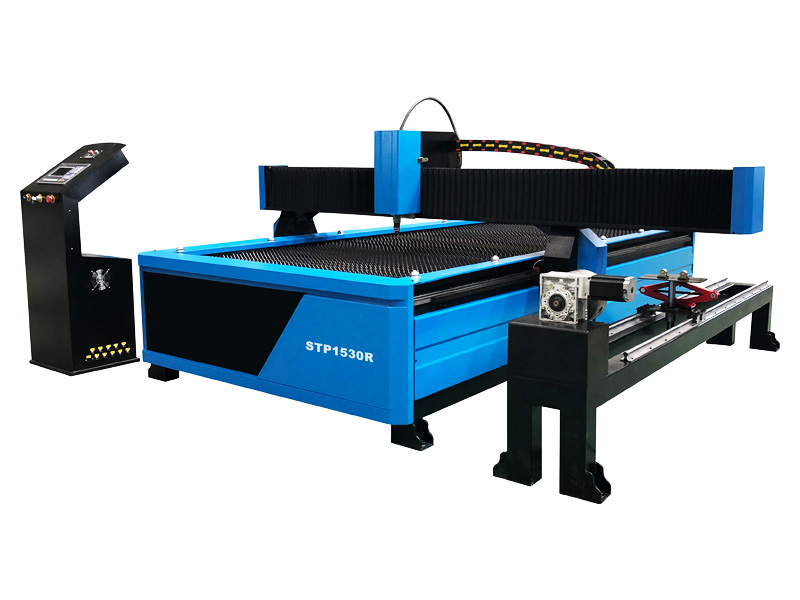 CNC Plasma Cutting Machine for Round Metal Tube with Flame Torch