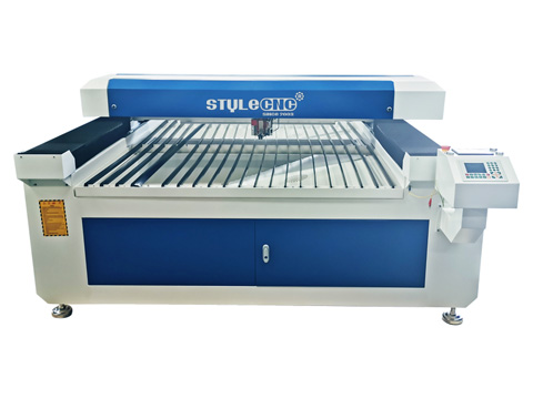 Mixed laser cutter for thin metal and thick non-metal materials