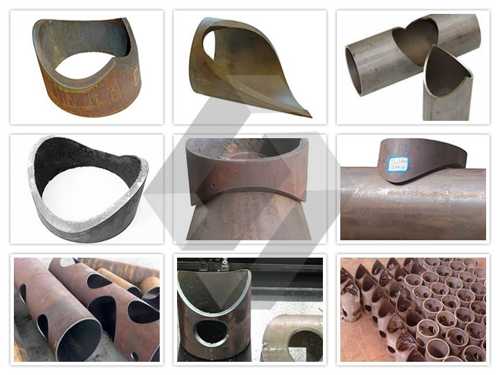 Samples for round tube CNC plasma cutting machine