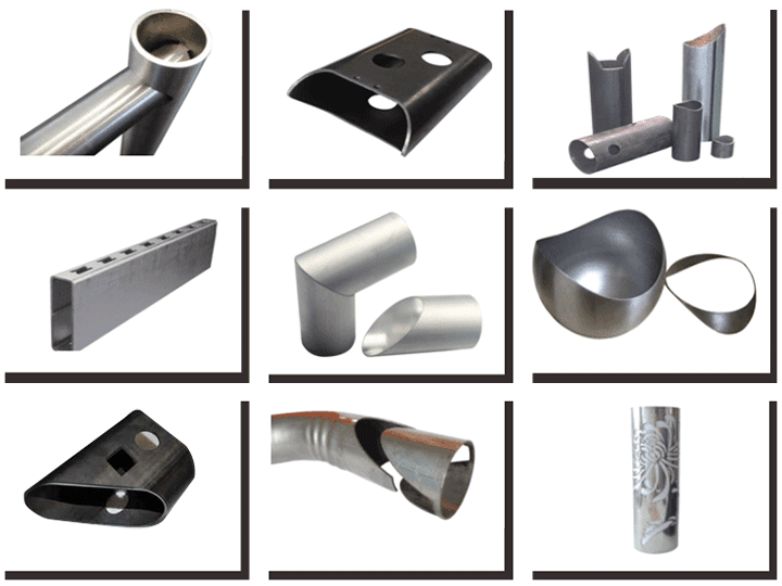pipe and tube laser cutting machine samples