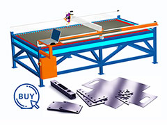 Video of metal plasma cutter cutting metal thickness less than 10mm