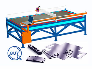 Metal plasma cutter cutting metal thickness less than 10mm