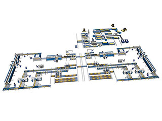 Layout Design of a Furniture Production Line Using Formal Methods