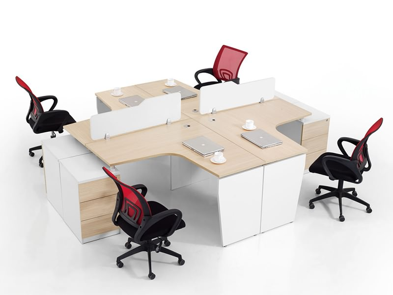 The office cubicle samples processed by panel furniture production line