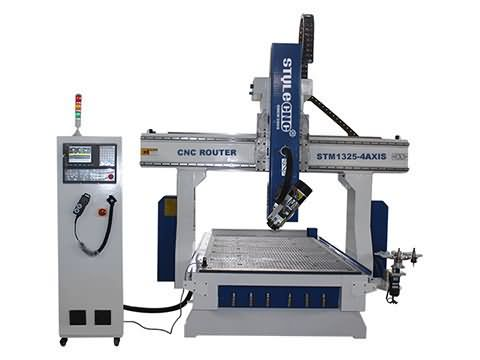 4 Axis CNC wood router with ATC system STM1325-4 axis