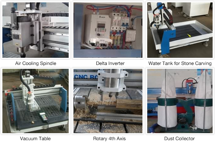 Optional parts of Mini Tabletop CNC Router for Small Business