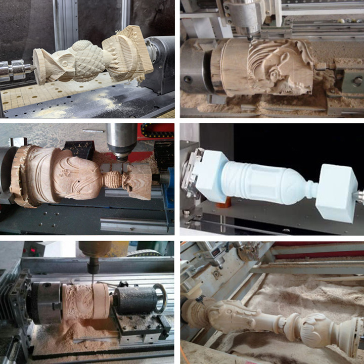 Projects of Multi-heads 3D CNC Router with 12 spindles and rotary device