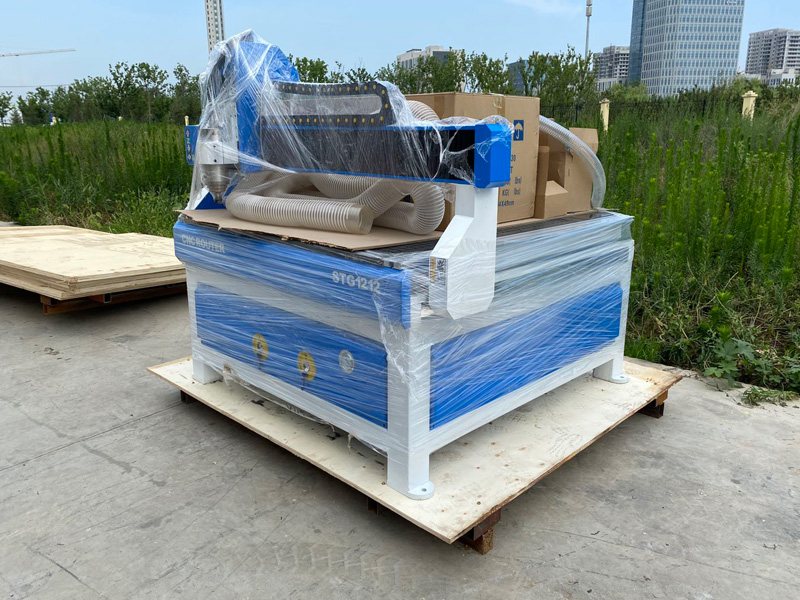 The Fifth Picture of Low Cost 3 Axis CNC Router STG1212 with 4x4 Table Size