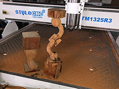 Video of 3d cnc router for wood stairs