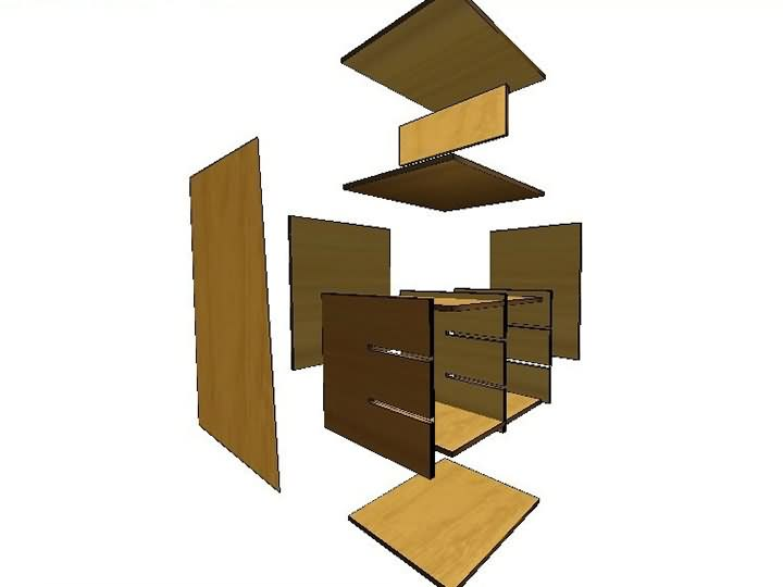 Functions of the software for panel furniture design and plit single