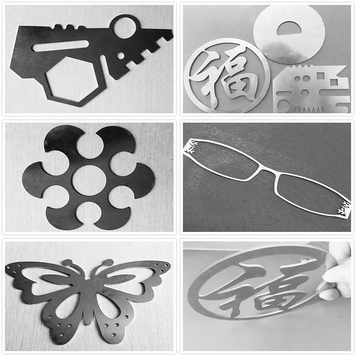 fiber laser cutting machine samples for metal