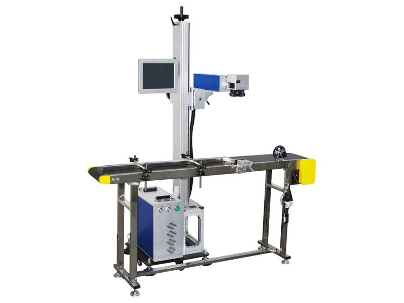 flying type fiber laser marking machine