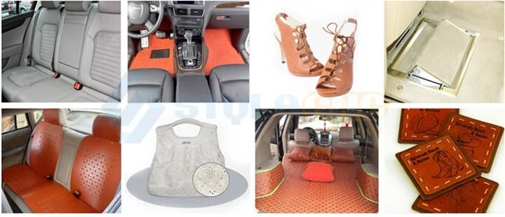 Car interior products laser cutting samples
