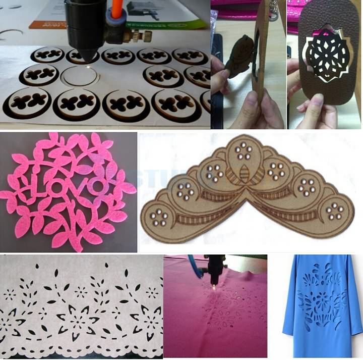Clothes laser cutting machine samples