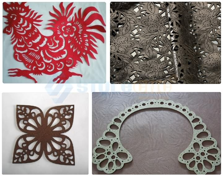 Leather laser cutting machine samples