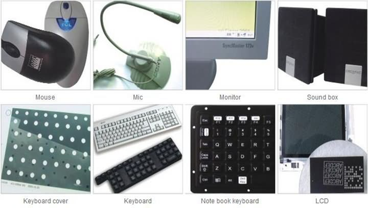 Samples of Laser engraving machine and laser marking machine
