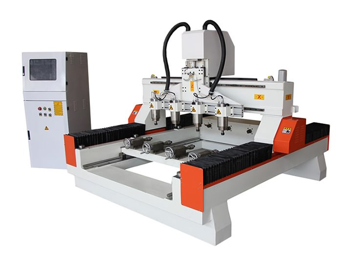 Affordable 3D Carving CNC Router Machine with Four Heads for Sale