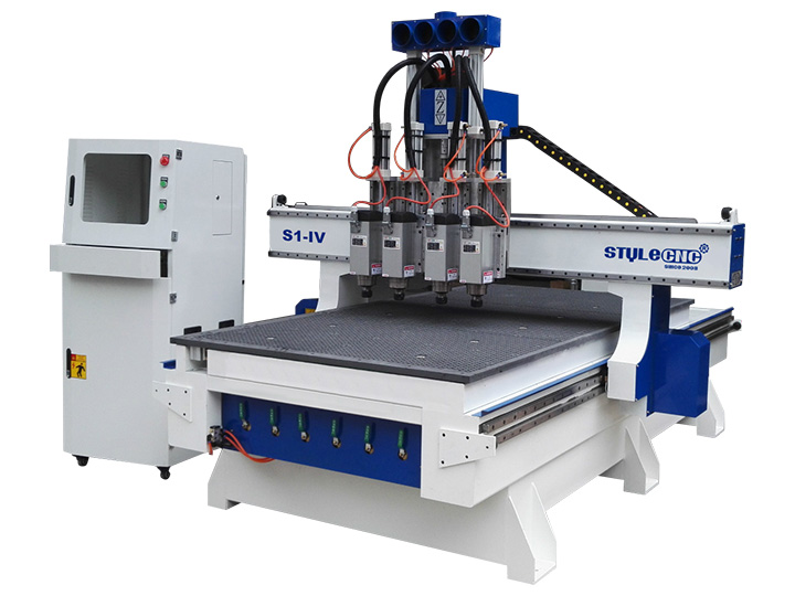 4x8 Cnc Router For Sale With Multi Spindles Changing