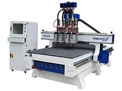 4x8 CNC Router for sale with Multi-spindles changing automati