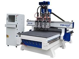 Affordable 4x8 CNC Router for sale with Multi-spindles changing automatically