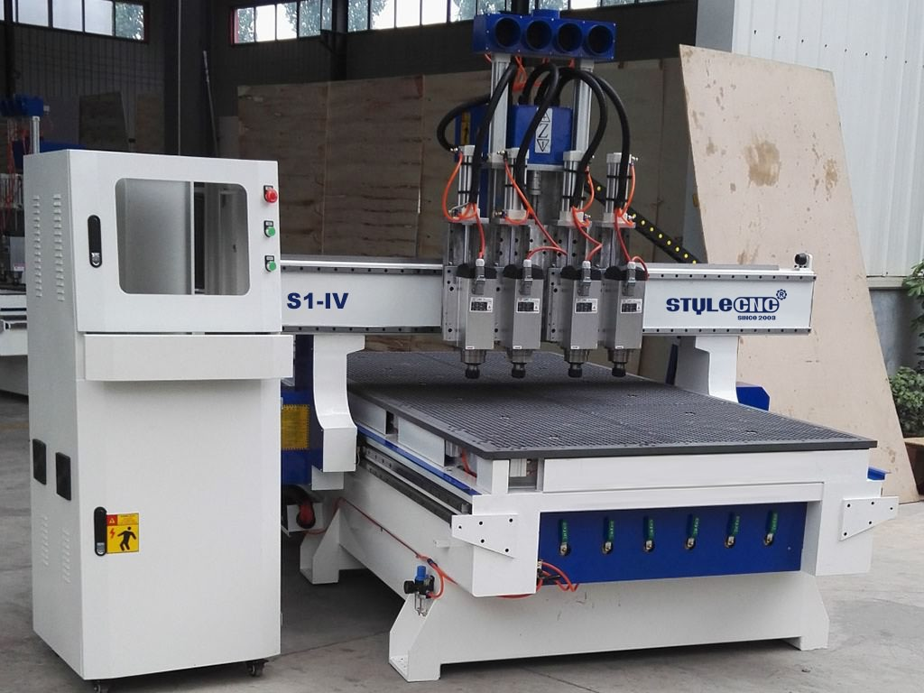 4x8 CNC Router with four spindles