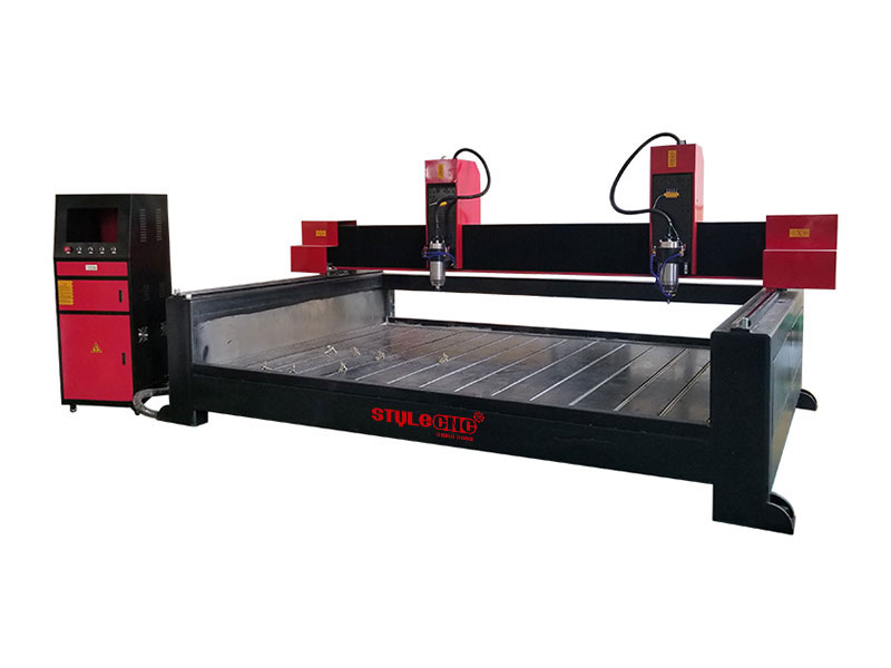 Stone CNC Machine for 3D Carving with Dual Spindles