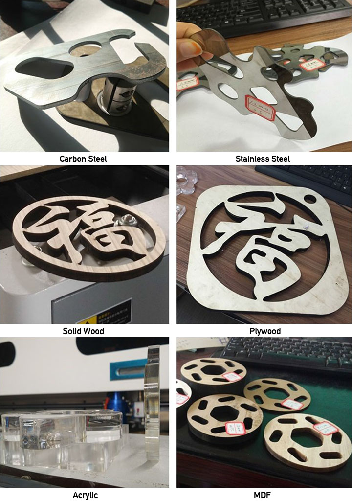 260W mixed laser cutter samples