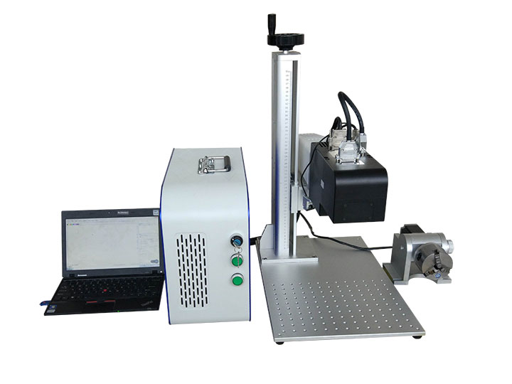 Dynamic Focusing 3D Fiber Laser Engraver with Rotary Attachment