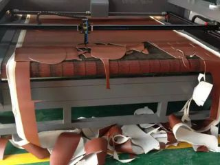 Leather laser cutting machine with auto feeding system