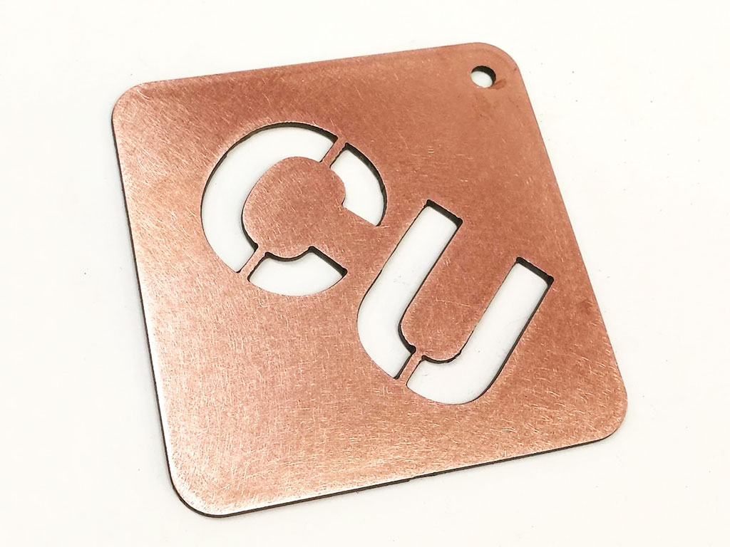 copper laser cutting samples