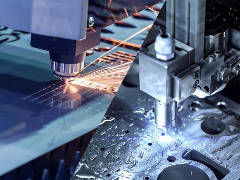 Laser cutting machine process