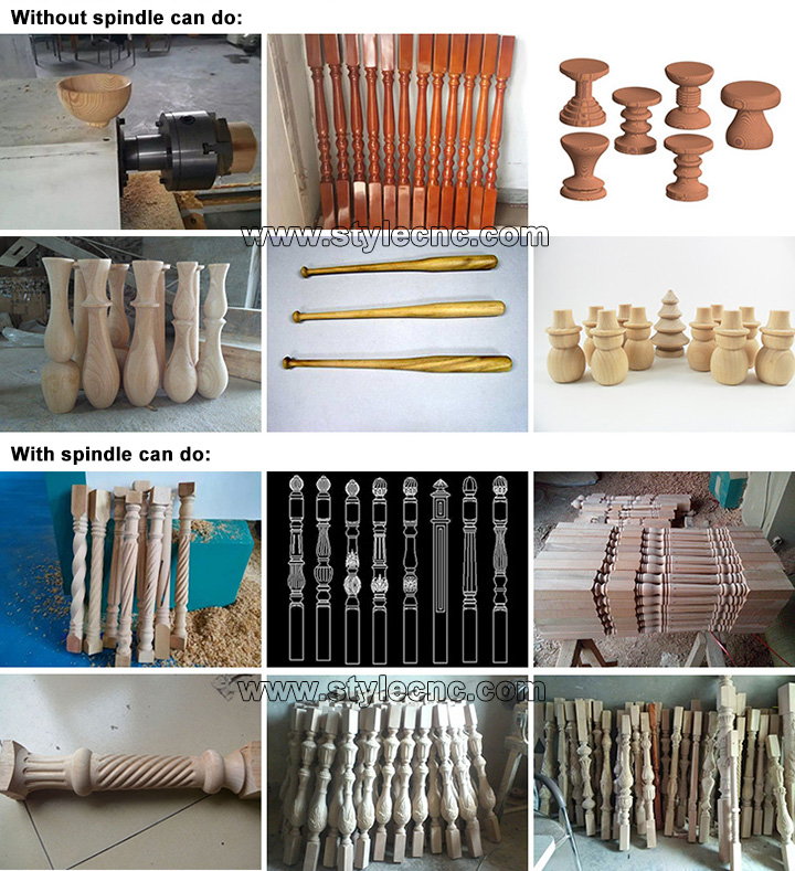 Double axis cnc wood lathe applications