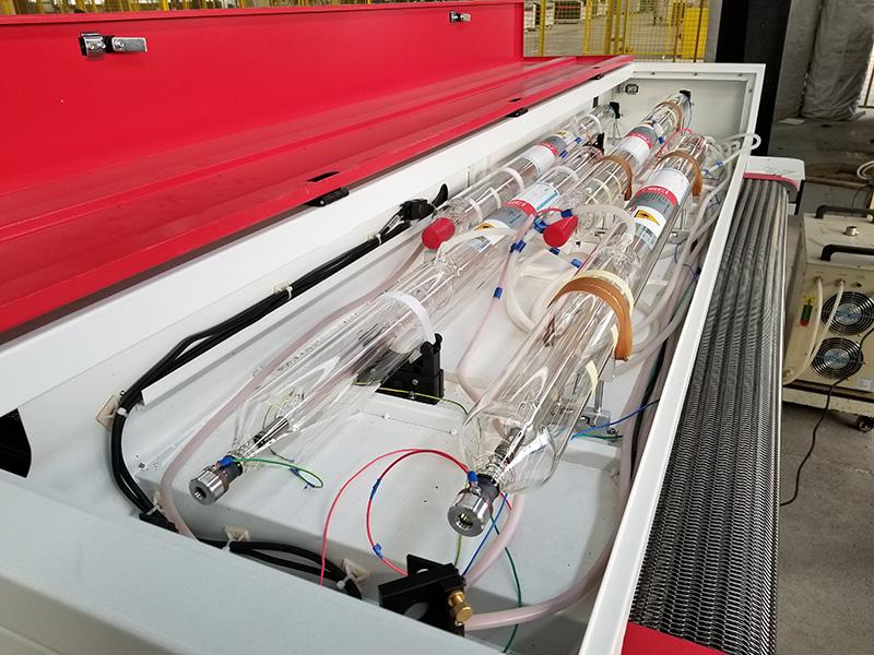 Laser tubes of 4 heads laser engraving machine