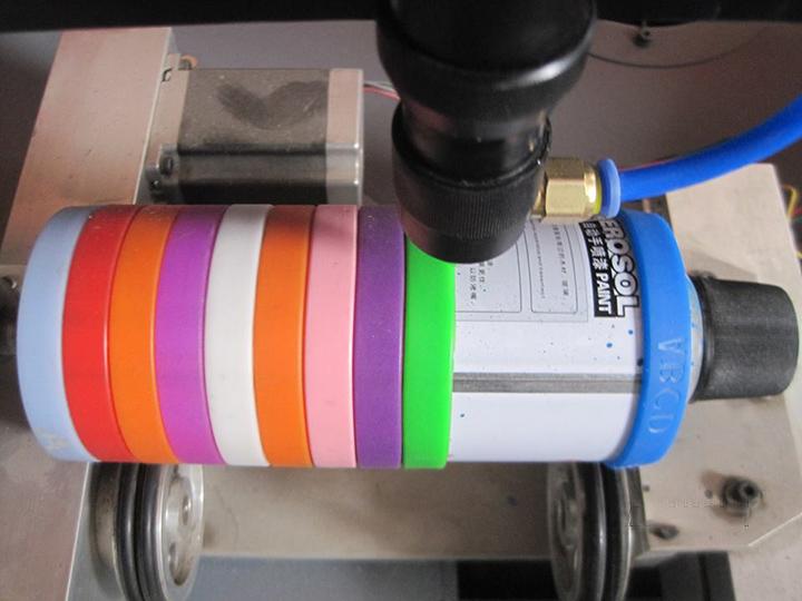 Silicone bracelet laser engraving samples by CO2 laser engraver