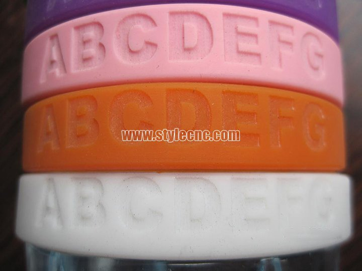 Silicone bracelet laser engraving machine projects