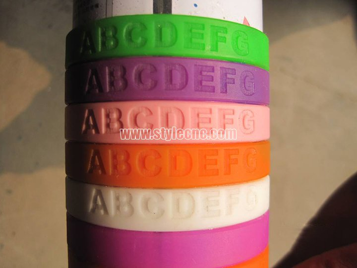 Silicone bracelet laser engraving projects