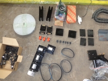 Full set laser parts to assemble one co2 laser cutting machine