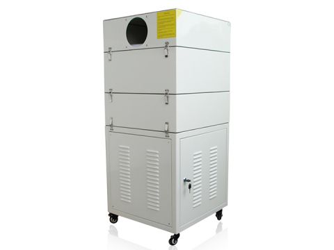 Air filter/fume extractor for laser machine