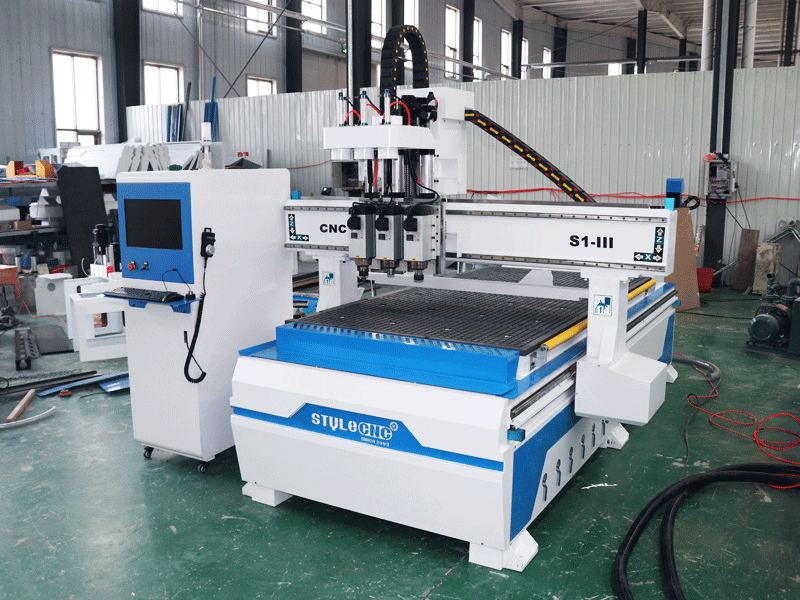 kitchen cabinets door making CNC router with double table