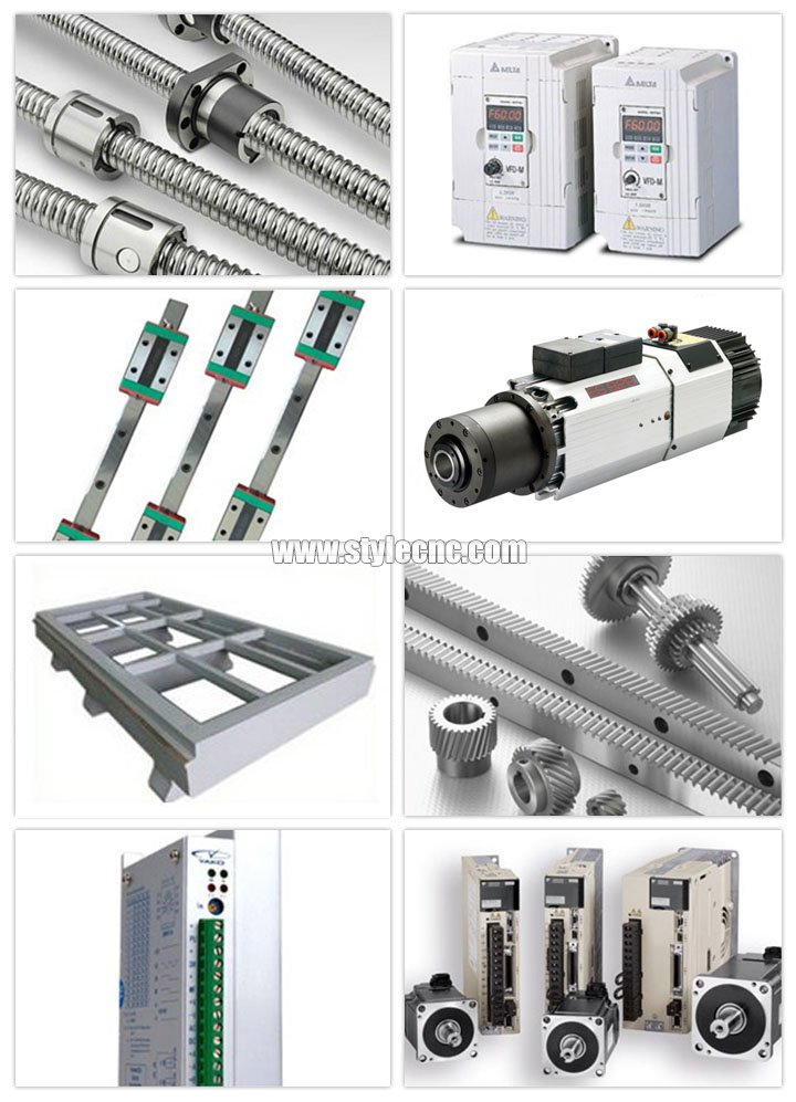 Main Parts of ATC CNC router for 3D engraving and cutting