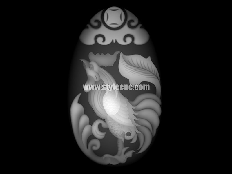 Rooster deep thinkers greyscale image