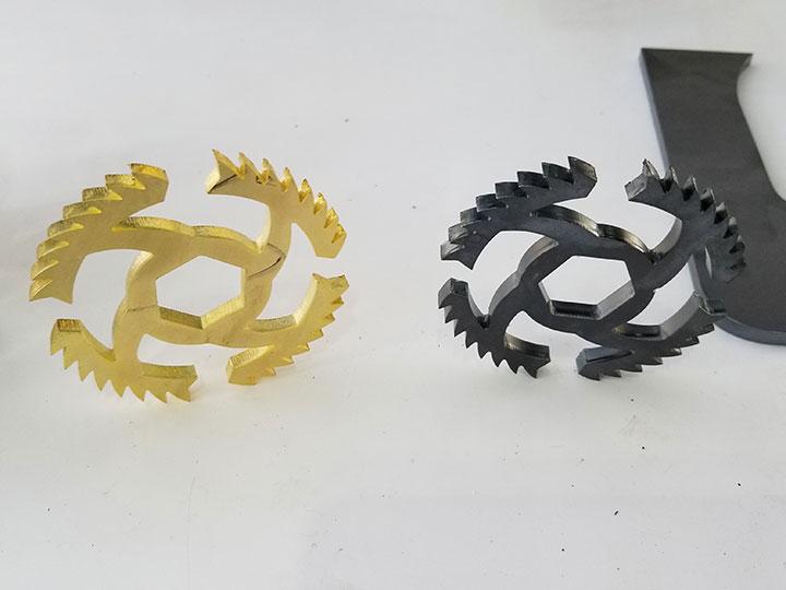 Laser metal cutting machine cut brass and copper