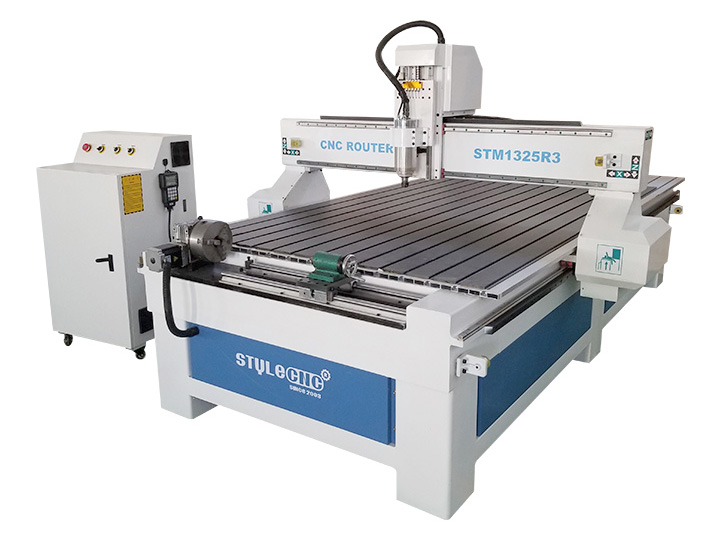STM1325-R3 4x8 CNC Router with Rotary 4th Axis at Front