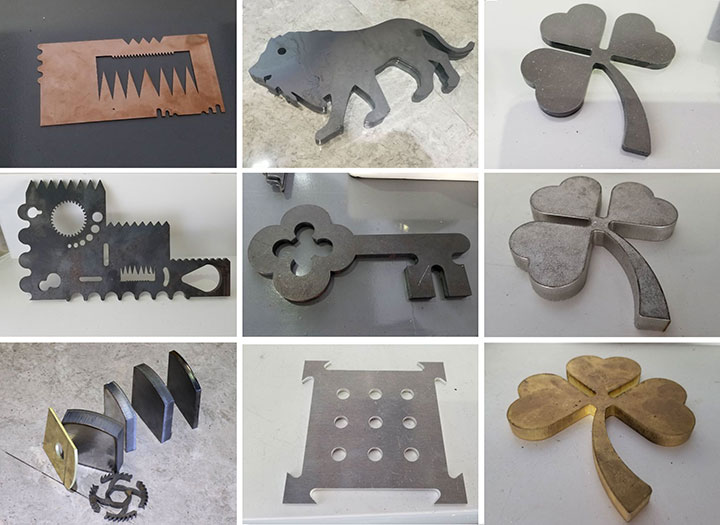 Fiber laser metal cutting machine 500w samples