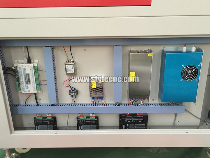 Laser fabric cutter RD controls system