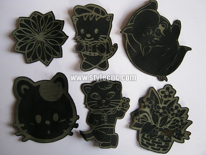 Clothes laser cutter samples
