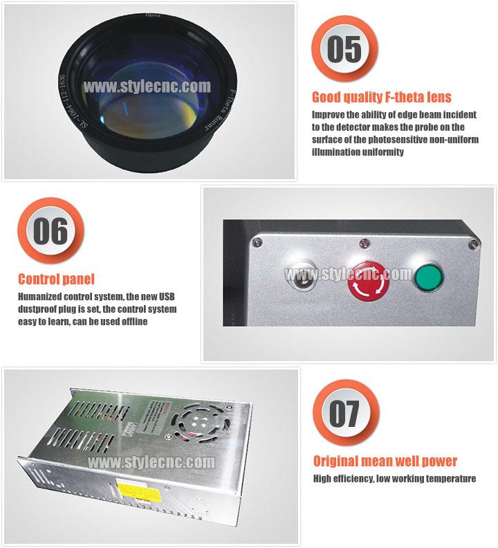 Online flying laser marking machine features