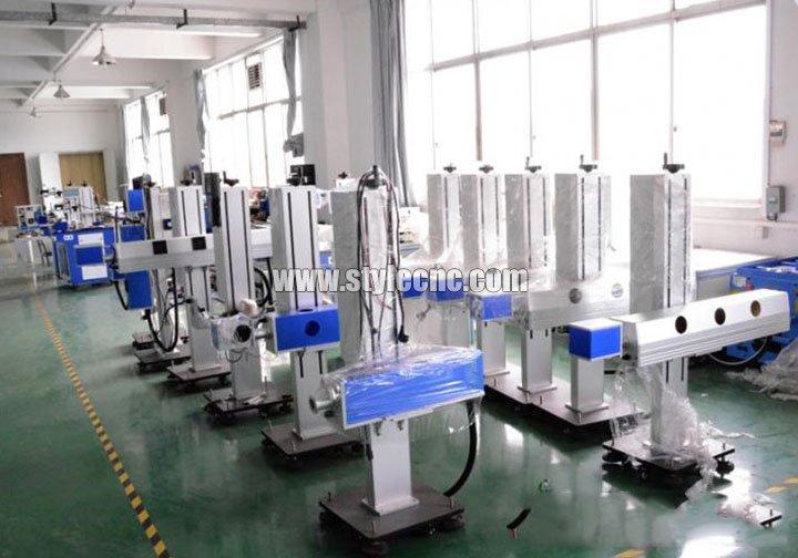 Online flying laser marking machine manufacturing shop