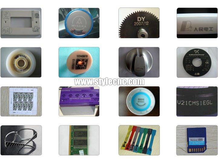 Online flying laser marking machine samples