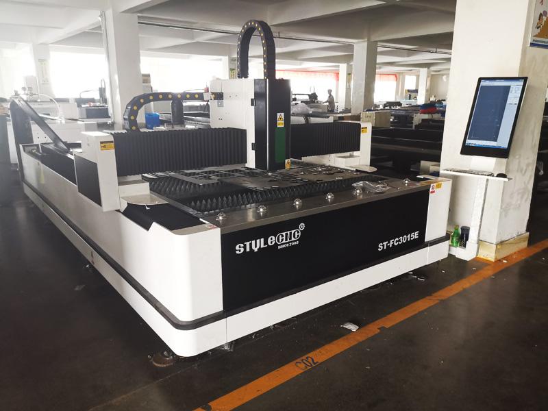 Fiber Laser Cutting Machine in Factory